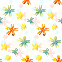 Fototapeta Background with watercolor flowers