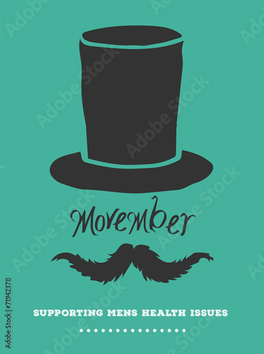 Photo  Movember advertisement vector with text and graphic