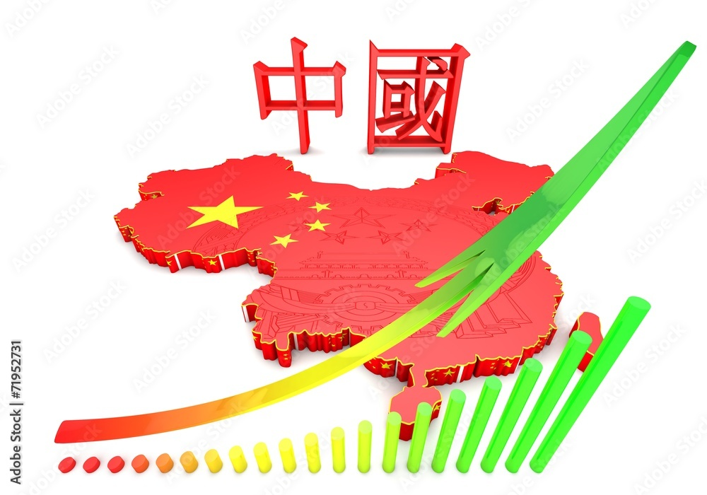illustratuin map of China Foto, Poster, Wandbilder bei EuroPosters