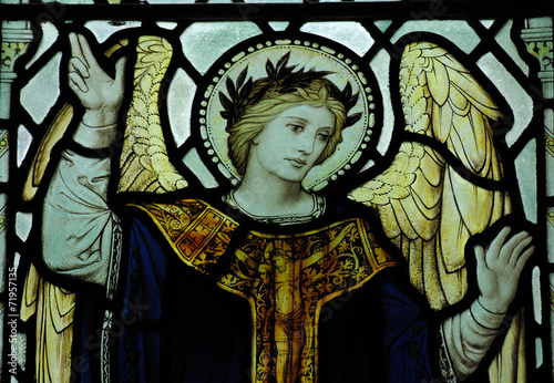 Fotografie, Obraz  An angel in stained glass