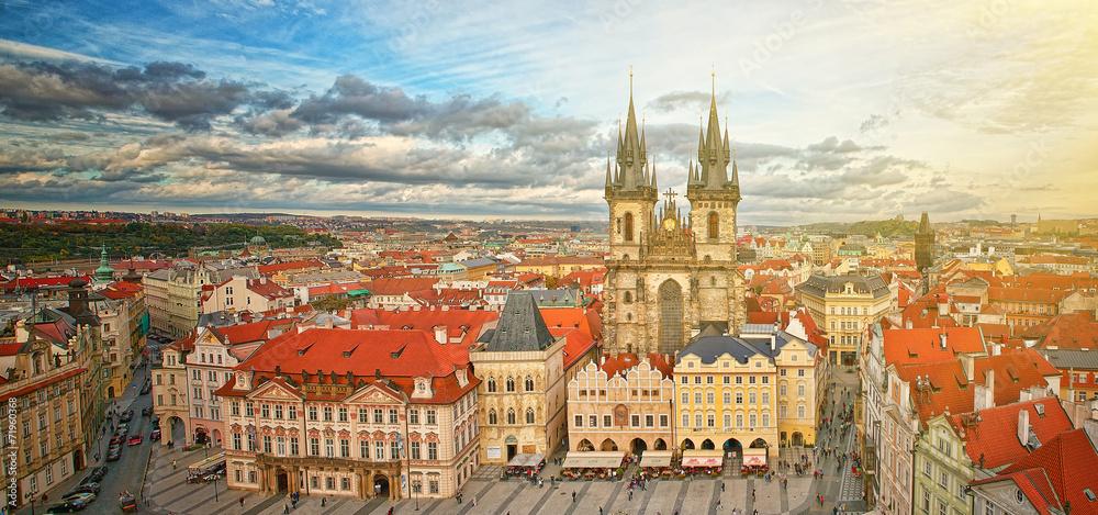 Fototapeta Widok na stare miasto Praga,Czechy.