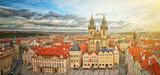 Fototapeta Miasto - Widok na stare miasto Praga,Czechy.