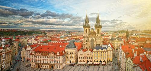 Fototapety, obrazy: Widok na stare miasto Praga,Czechy.