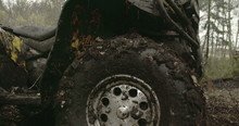 The Muddy Left Wheel Of The Of...