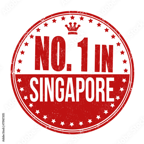 Number one in Singapore stamp Poster