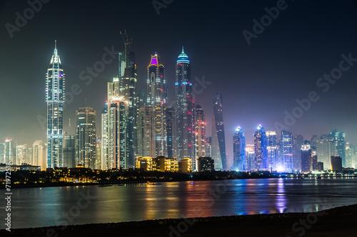 Poster Dubai Marina cityscape, UAE