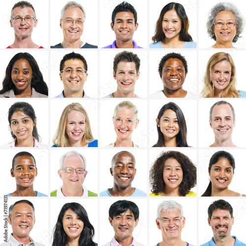 Fotografía  Grupo grande de Grupo étnico multi