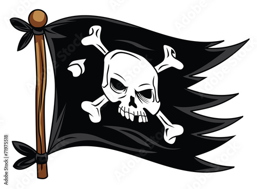 flag pirate Wallpaper Mural