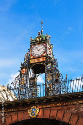 イギリス チェスター 時計塔 Chester England Fotomurales