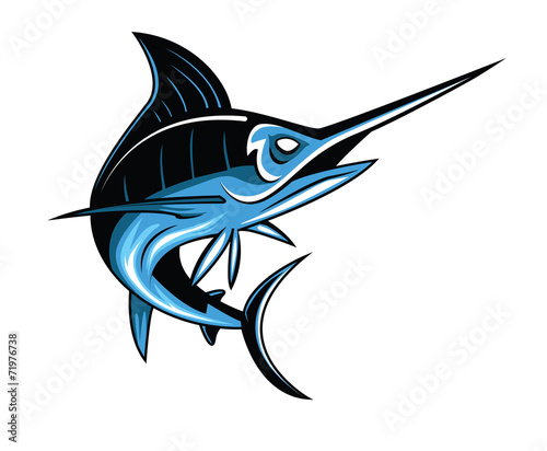 Marlin Fish Wallpaper Mural