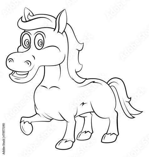 Recess Fitting Cartoon draw Horse Cartoon