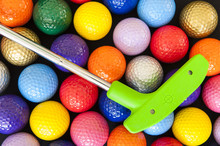 Green Golf Putter With Colorfu...