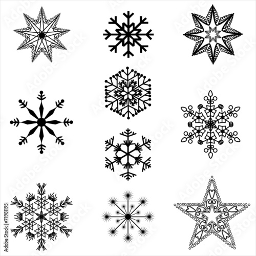 Christmas Star Silhouette.Filigree Christmas Star Silhouettes Buy This Stock Vector
