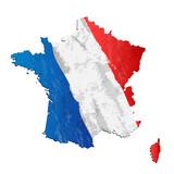 Fototapeta Fototapety Paryż - francja flaga wektor