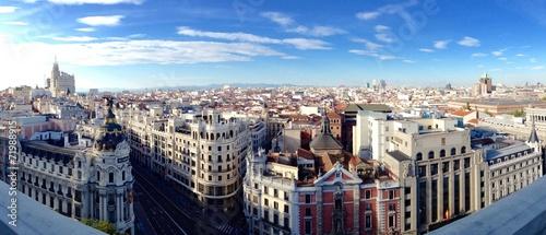 Fotobehang Madrid Madrid von oben
