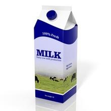 3D Milk Carton Box Isolated On...