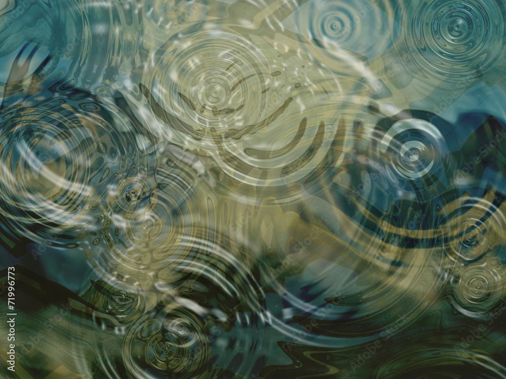 Fototapety, obrazy: Ripples on a pond