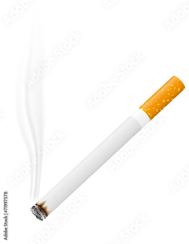 Photo burning cigarette vector illustration