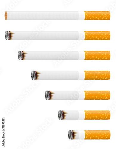 smoldering cigarette vector illustration Canvas Print