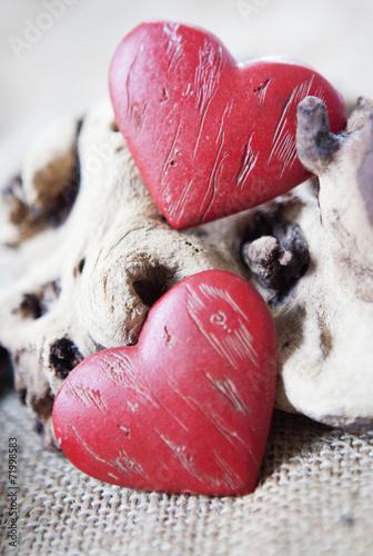 Valokuva  deux coeurs de Saint-Valentin