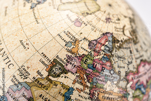 Foto  地球儀 ヨーロッパ
