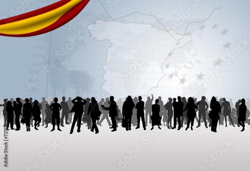 Photo  Citoyens espagnols
