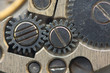 Background with metal cogwheels a clockwork.Conceptual photo