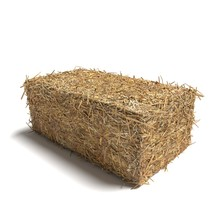 3d Illustration Of A Hay Bale ...