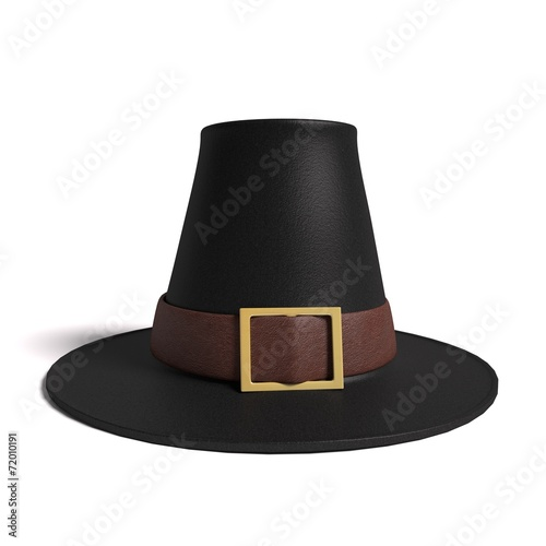 Fotomural 3d illustration of a pilgrim hat