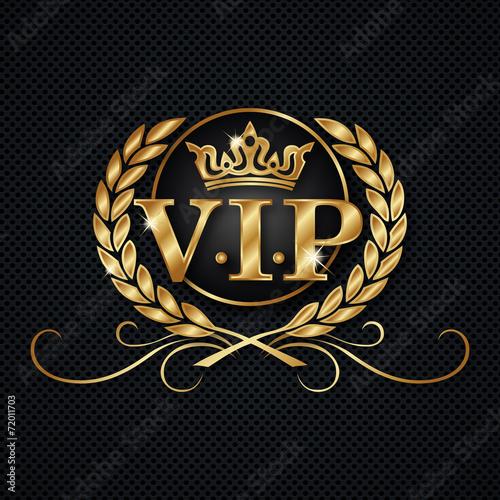 Leinwand Poster VIP-Logo