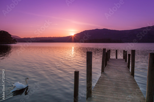 Papiers peints Lac / Etang Derwent Water sunrise, Keswick, Cumbria, England