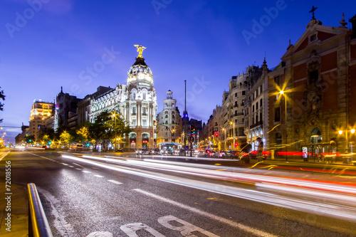In de dag Madrid Nachtfotografie Madrid