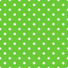 Seamless Green Polka Dot Backg...
