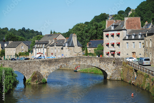 Fotografia, Obraz  Old stone bridge in Dinan, Brittany, France