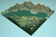 Lago Maggiore Vista Satellitare, Mappa, Locarno, Svizzera