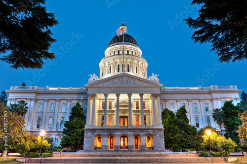 Fotografia, Obraz  California State Capitol Building at Dusk