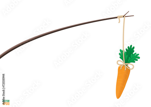Fototapeta Carrot and stick motivation illustration. obraz