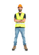 Workman over isolated white background