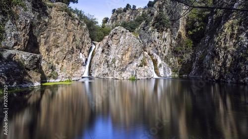Fotografie, Obraz  Landscape of lake. Madrid. Spain