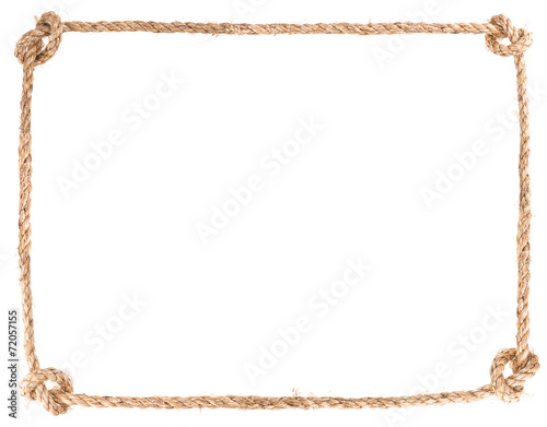 Fotografía  rope knot frame
