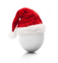 Weihnachtsmütze  Auf Hühnerei