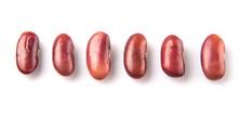 Red Kidney Beans On White Back...