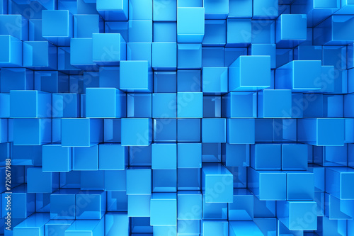 fototapeta na ścianę Blue blocks abstract background