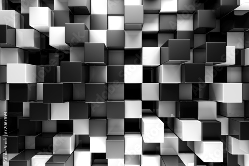 obraz PCV Czarno-białe bloki abstrakcyjne tło