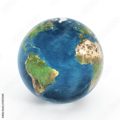 Fotografie, Obraz  Earth isolated