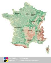 Carte De France Reliefs
