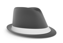 Classic Mens Fedora In Gray, O...