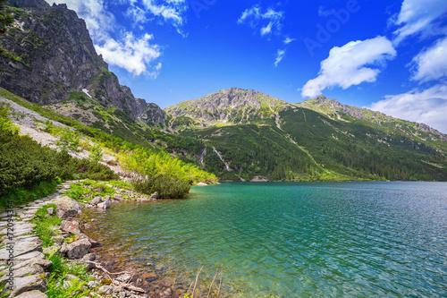 Fototapeta Eye of the Sea lake in Tatra mountains, Poland obraz na płótnie