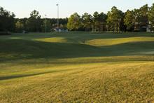 Golf Course Sunrise And Landsc...