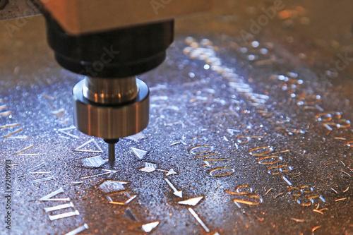 Fotografie, Obraz  Machine for milling marks on metal